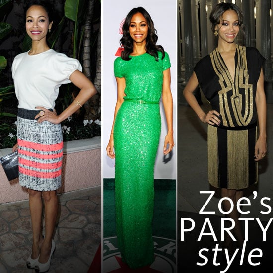 Zoe Saldana's Top 10 Party Looks: Steal Her Killer Special Occasion Style for New Year's Eve!