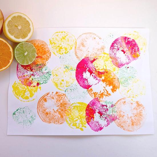 Fruit Print Crafts For Kids | POPSUGAR Moms