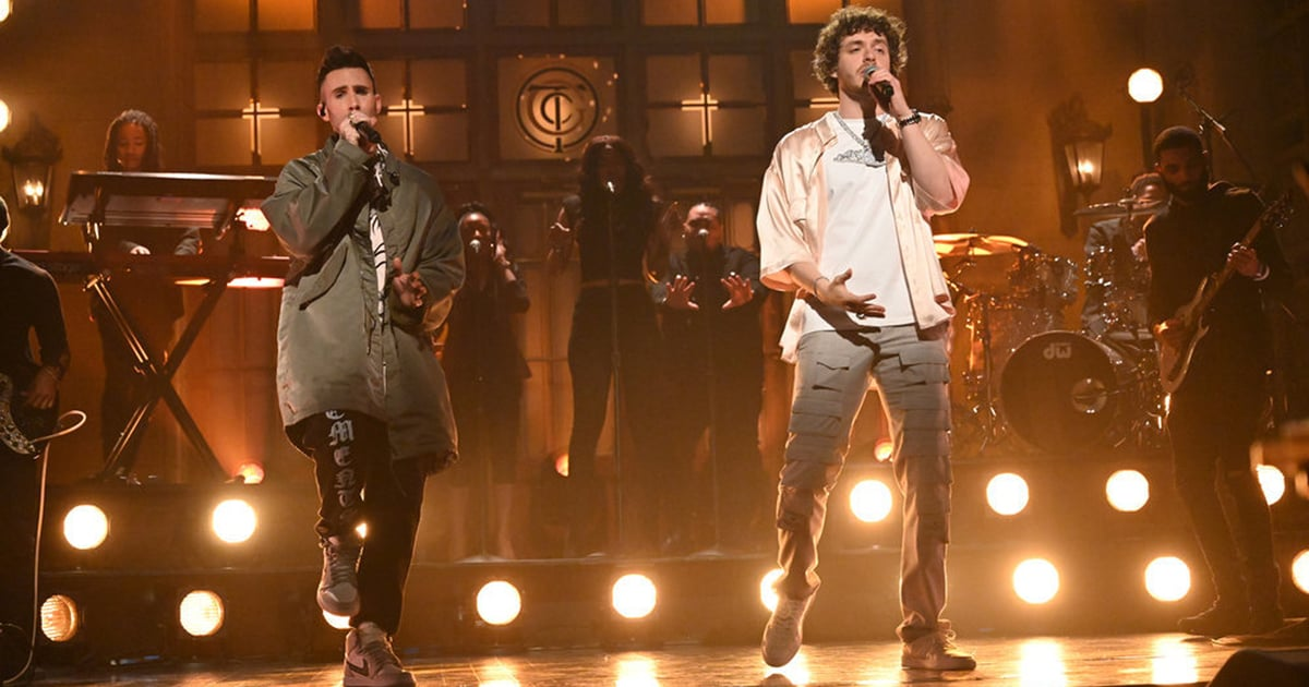 Adam Levine Unexpectedly Popped Up For Jack Harlow's SNL Debut, but We're Not Complaining