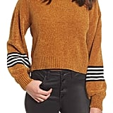 Ten Sixty Sherman Stripe-Sleeve Chenille Sweater
