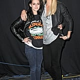 """Charlize Theron and Kristen Stewart got to know each other while filming Snow White and the Huntsman last year and became fast friends. Charlize told Access Hollywood of Kristen, """"I really, I really, really love that girl. I love that girl, like, I would jump off a building for that girl. She's amazing, she's amazing."""""""