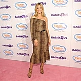Heidi Klum wore strappy pumps.