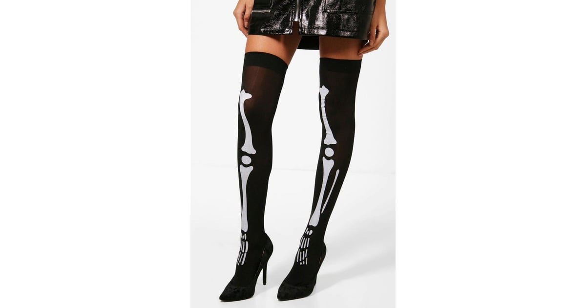 8f44e78069 Boohoo Isla Halloween Skeleton Stockings | Cute Halloween Accessories From  the High Street | POPSUGAR Fashion UK Photo 22