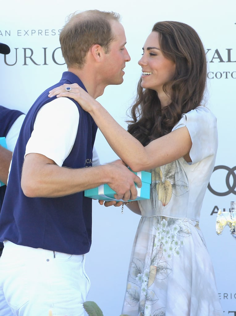 Kate Middleton went in for a kiss after Prince William won a polo match in Santa Barbara, CA, in July 2011.