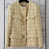 Chanel Iconic Vintage Pink And Cream Jacket