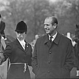 Princess Anne and Her Father, Prince Philip, at the Badminton Horse Trials in 1971