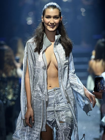 Bella Hadid Wears the Most Cleavage-Baring Disco Jacket for amfAR Cannes Fashion Show