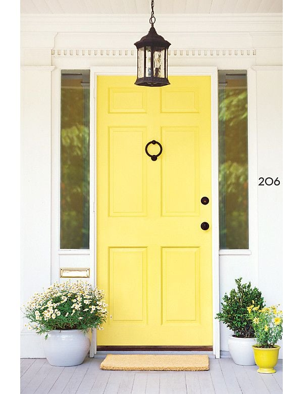 Canary yellow front doors popular paint colors for Front door yellow paint