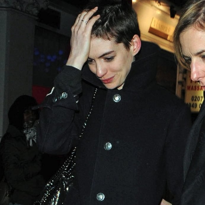Anne Hathaway Engaged Celebrity Save The Dateanne: Anne Hathaway Buzz Cut Pictures