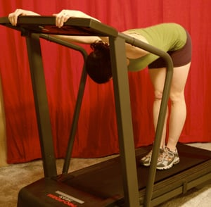 Treadmill Stretch: Upper Back and Shoulders