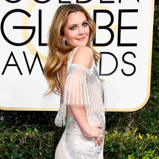 Drew Barrymore at the 2017 Golden Globe Awards