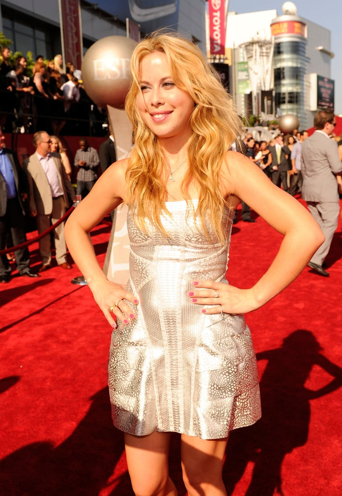 Ice skater Tara Lipinksi wore a short, metallic mini for the big night.