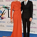Greta Gerwig arrived on the arm of designer Zac Posen.