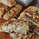 Garlic Bread Stuffed With Chicken and Cheese
