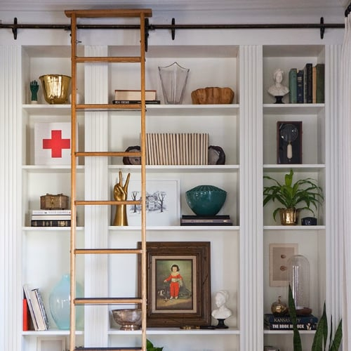 create custom built ins from ikea bookcases popsugar home - How To Make Custom Built In Bookshelves