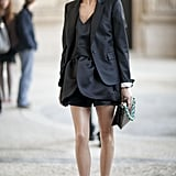 Olivia Palermo gets it just right in all black.
