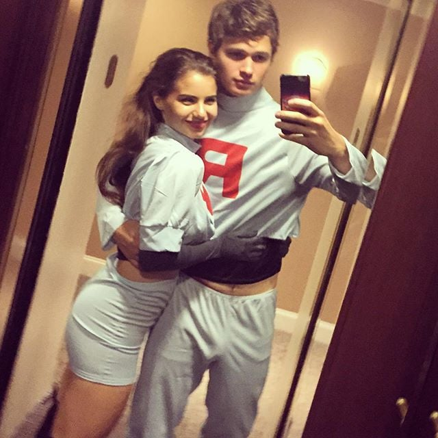Ansel Elgort And His Girlfriend As Team Rocket From Pokmon  Celebrity Halloween -9244