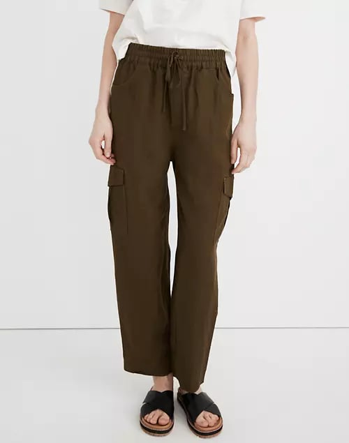 Madewell Tapered Huston Cargo Pull-On Crop Pants