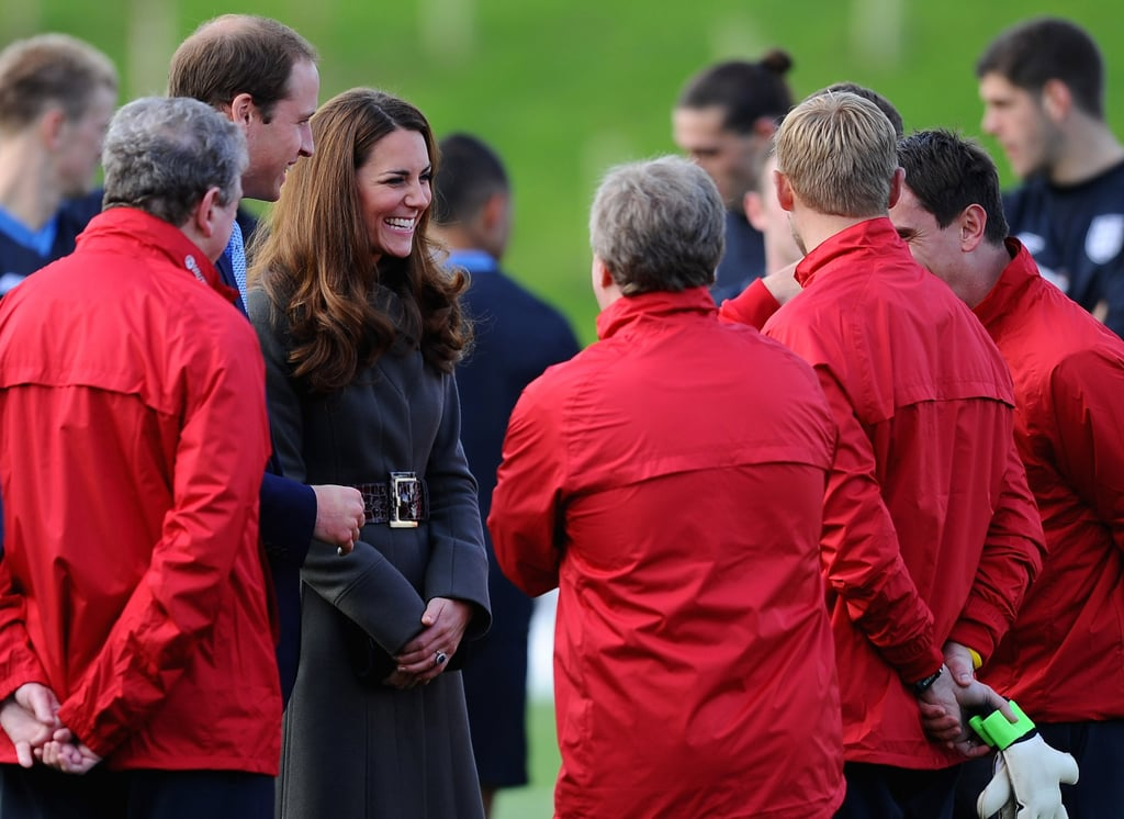 Kate Middleton wore a Reiss coat.