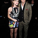 Emma Watson and Eddie Redmayne posed backstage at the People's Choice Awards.