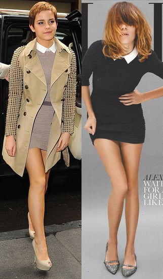 Emma Watson and Alexa Chung in the Same Collared Mini Dress