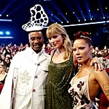 Billy Porter, Taylor Swift, and Halsey at the 2019 American Music Awards
