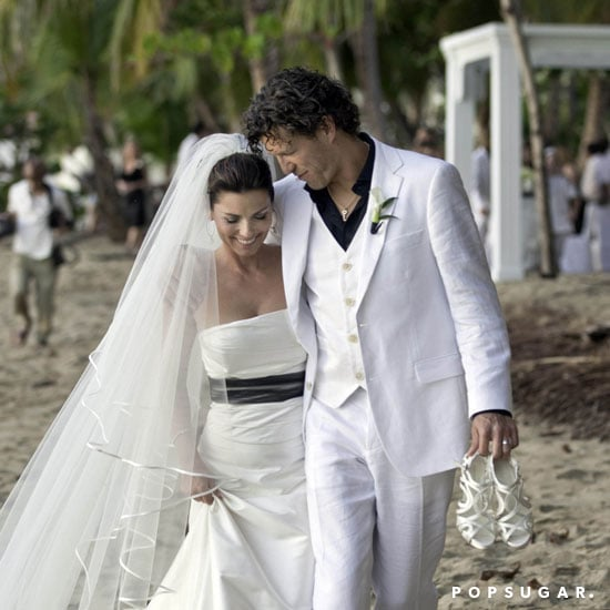 Shania Twain and Frederic Thiebaud had a January Puerto Rican beach wedding to ring in 2011.
