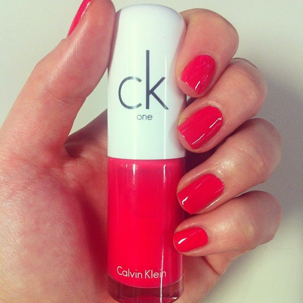 She also fell in love with ck color one's new polish offering, 'i think not'. You can buy this at Myer now...