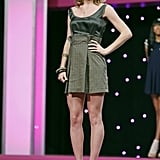 Laura wore a dress her grandmother made to the judges' panel.  Photo courtesy of The CW