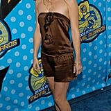 Exposing a little leg, but keeping things breezy up top, Kate Hudson's bump was almost a no-show at the 2003 MTV Movie Awards in May.