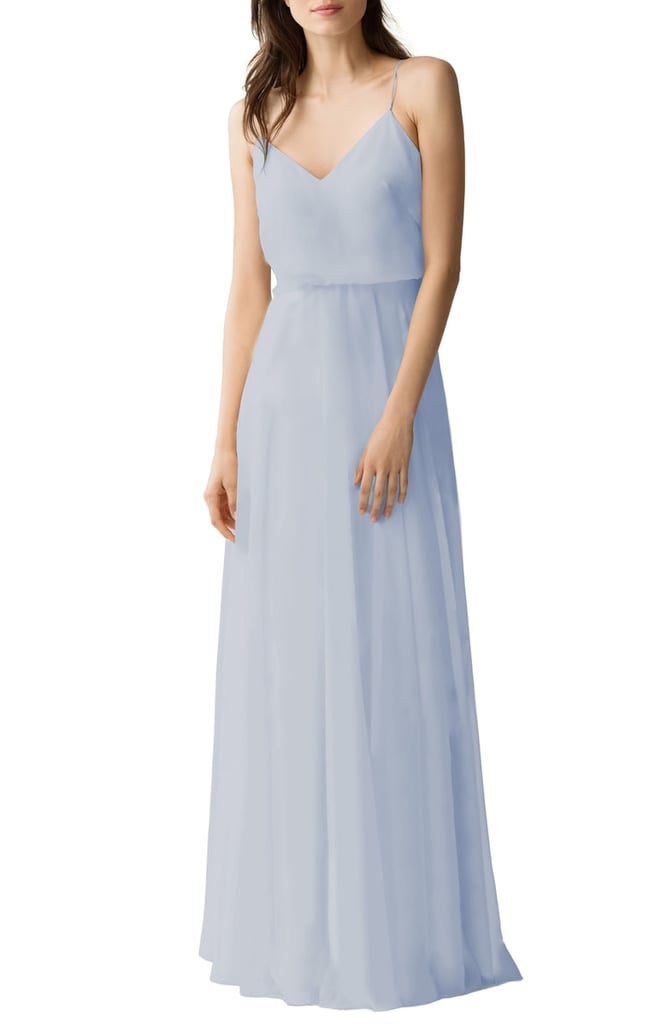 b3512e3c1a1 Jenny Yoo Inesse Chiffon V-Neck Spaghetti Strap Gown