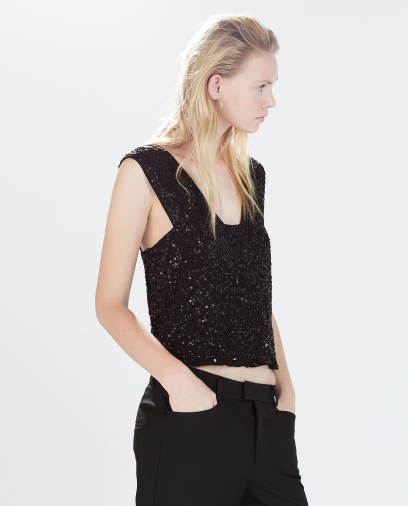 Zara Sequined Tank Top