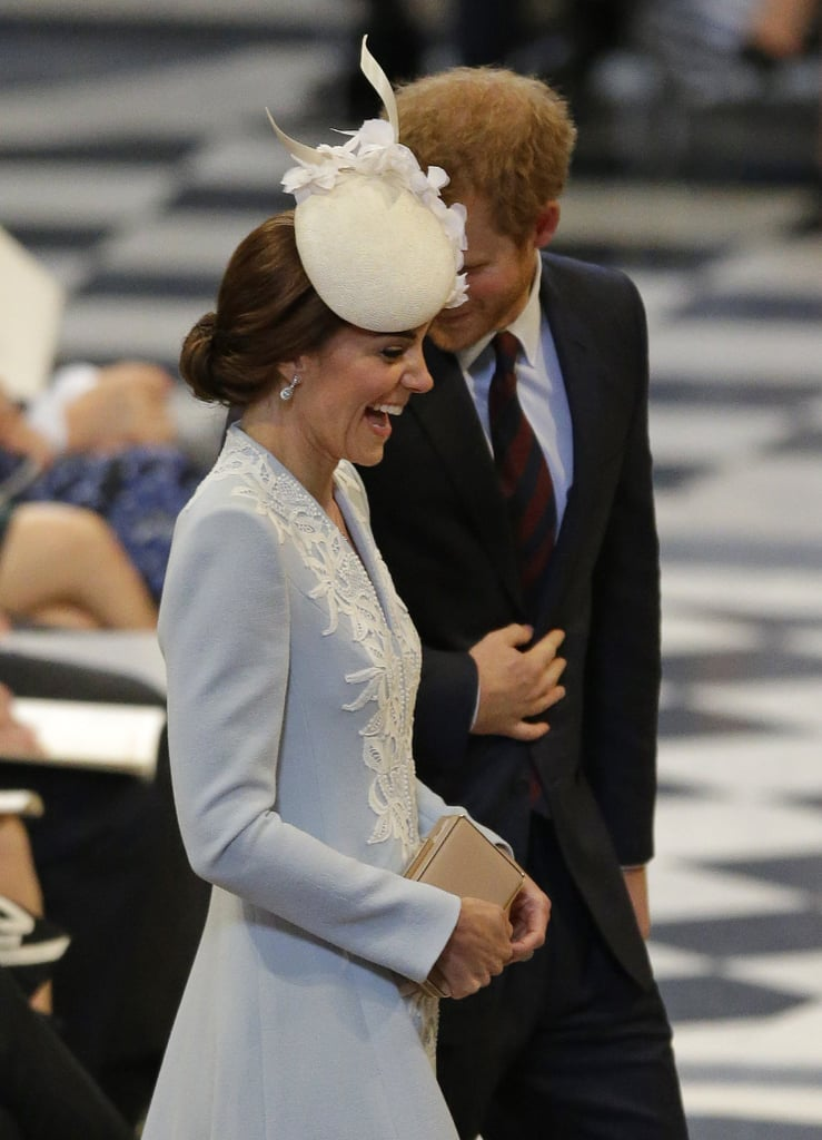 In June 2016, Harry had Kate in stitches at a celebration for the Queen's 90th birthday.