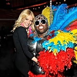 Remember when Gwyneth performed at the Grammys? She posed backstage with her onstage partner CeeLo Green at the February 2011 show.