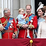 While William was occupied with Prince George, Kate and Charles shared a joke at Trooping the Colour 2015.