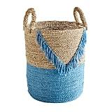 Blue Fringe Basket