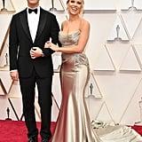 Colin Jost and Scarlett Johansson at the 2020 Oscars
