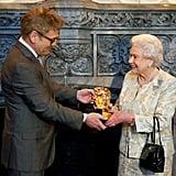 Queen Elizabeth II and Sir Kenneth Branagh