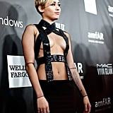 Rihanna and Miley Cyrus in Sexy Tom Ford Looks at amfAR Gala