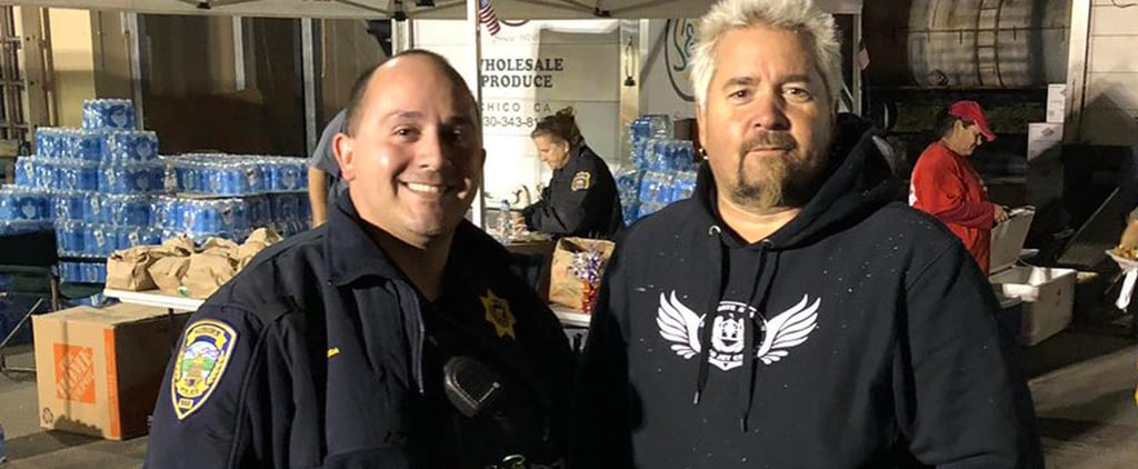 Guy Fieri Cooks For California Fire Victims 2018