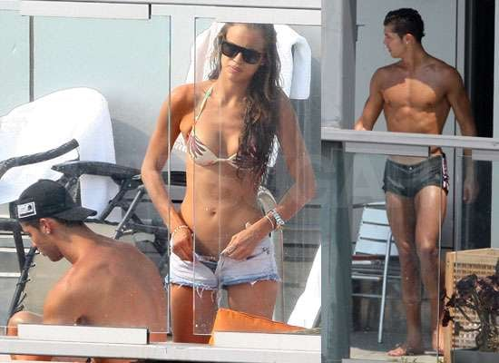 Pictures of Cristiano Ronaldo Shirtless With Girlfriend Irina Shayk in Bikini