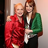 Emma Stone celebrates her People's Choice win with her mom Krista Stone.