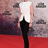 Ruth Wilson was among the first to step out in Alexander Wang's Balenciaga designs while walking the Lone Range red carpet in Berlin.