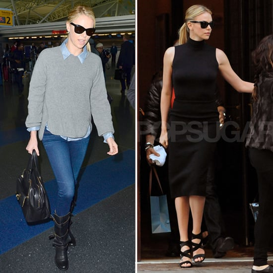 Outfit Inspiration: One Weekend and One Work Look Courtesy of Charlize