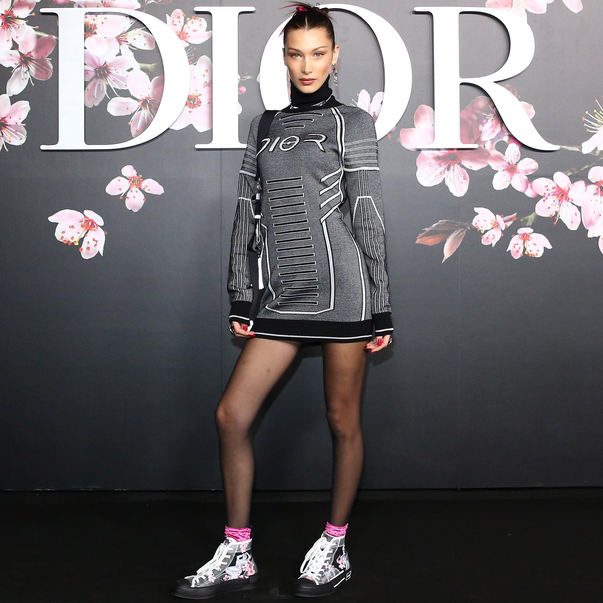 Bella Hadid Flower Sneakers at Dior