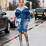They Add Sparkle to a Double-Denim Look