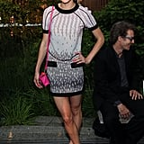 Jessica Stam was in attendance at Coach's Summer Party on the High Line in NYC.