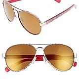 Lilly Pulitzer Ainsley 59mm Polarized Aviator Sunglasses