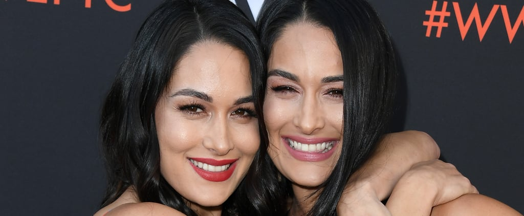 Nikki and Brie Bella at WWE's FYE Event June 2018