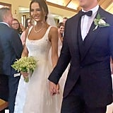 Keleigh Sperry's Monique Lhuillier Wedding Dress